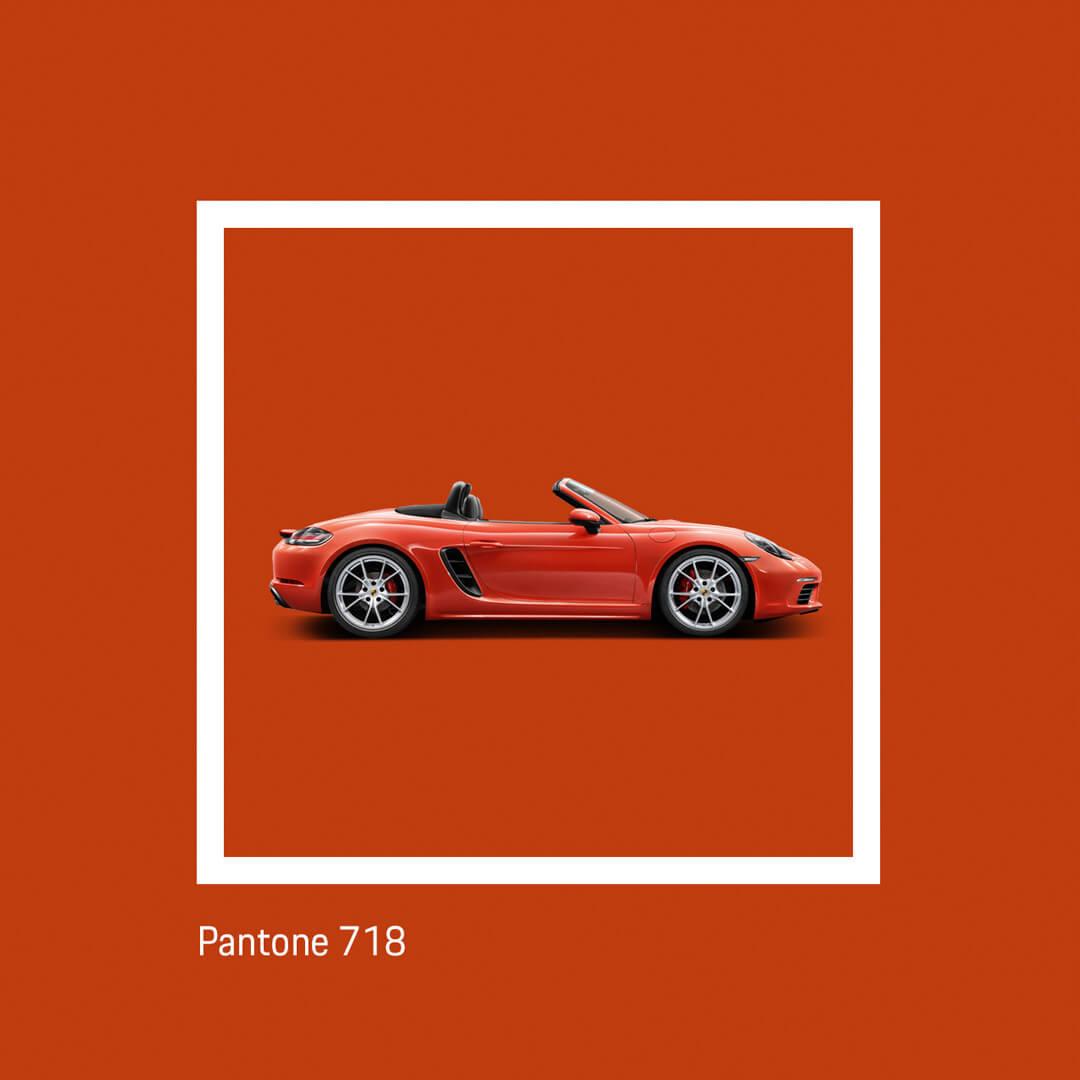 Porsche y Pantone 718