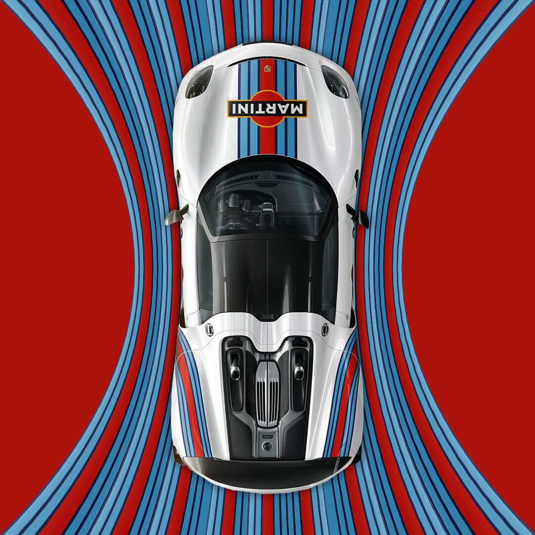 Creatividad para redes sociales Porsche