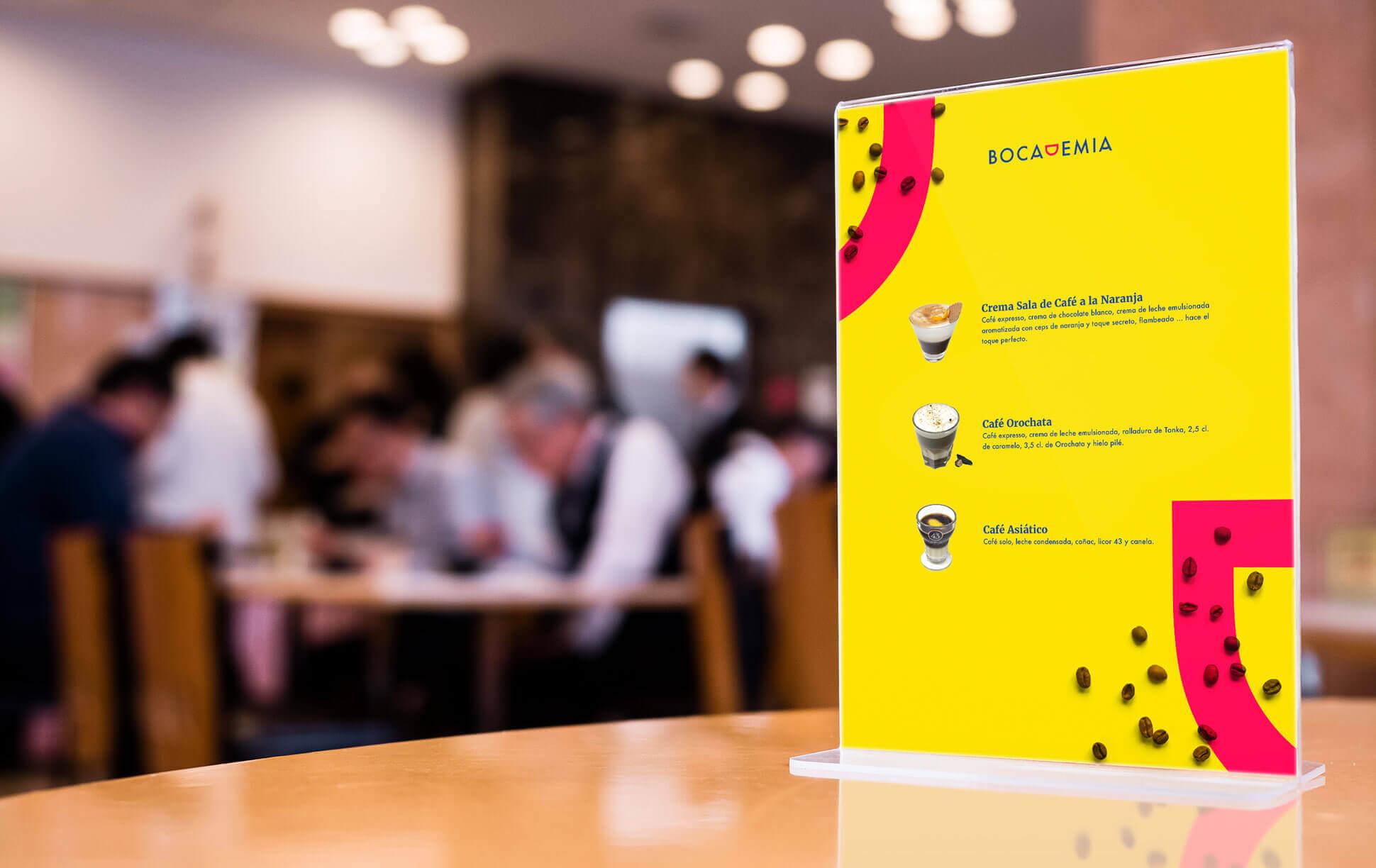 Carta de Cafés de Bocademia