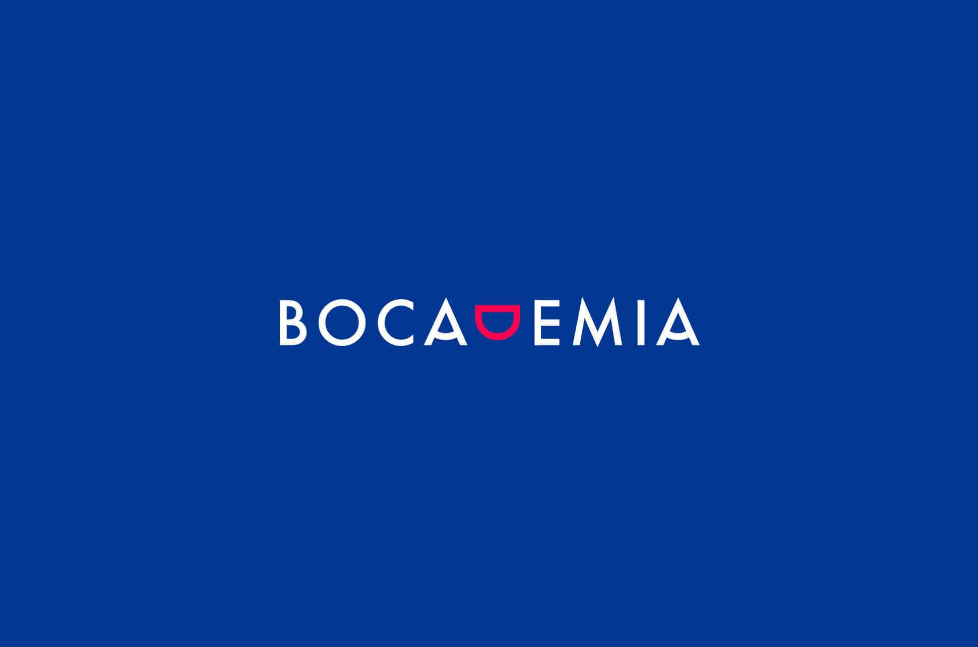 Logo Negativo de Bocademia