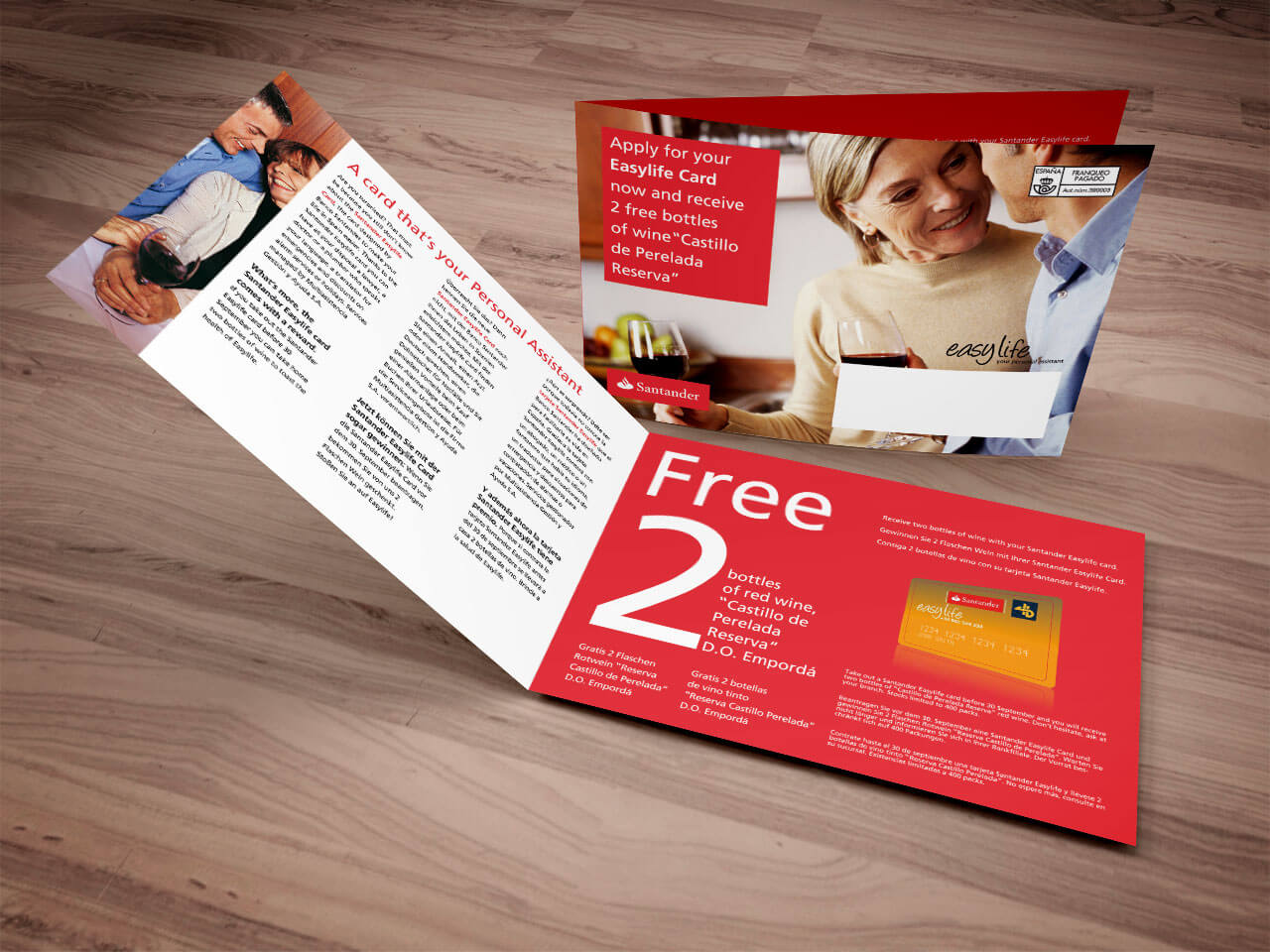 Fotografía de folleto para el Banco Santander