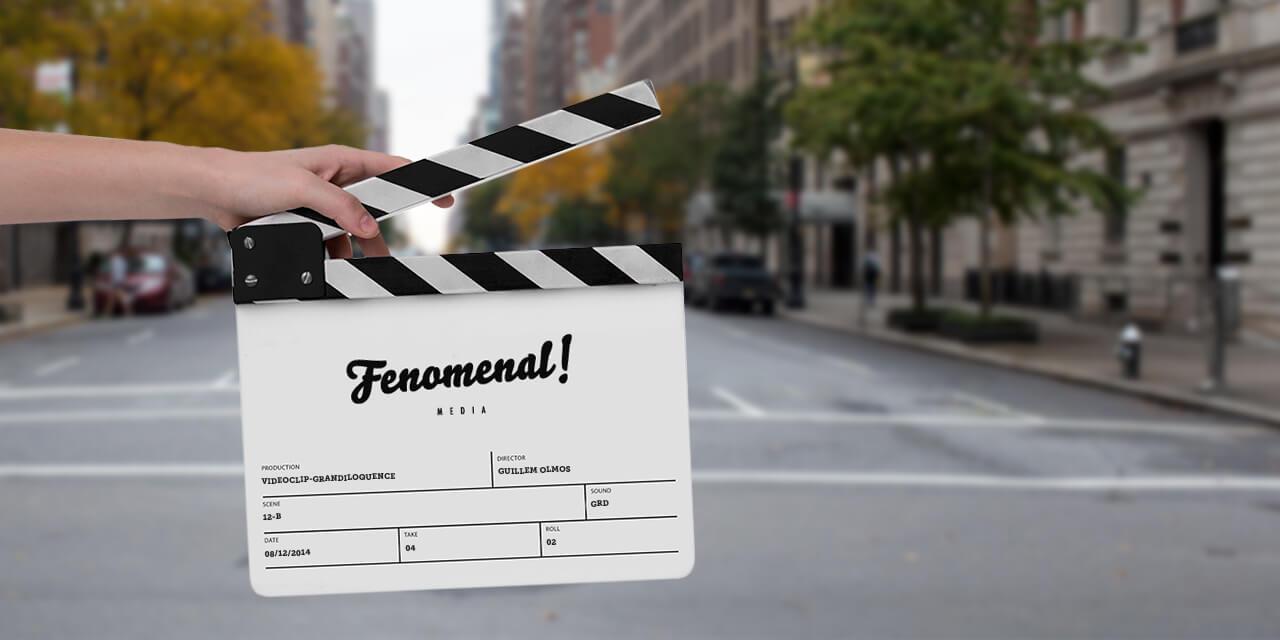 Fotografía de claqueta con el logo de Fenomenal