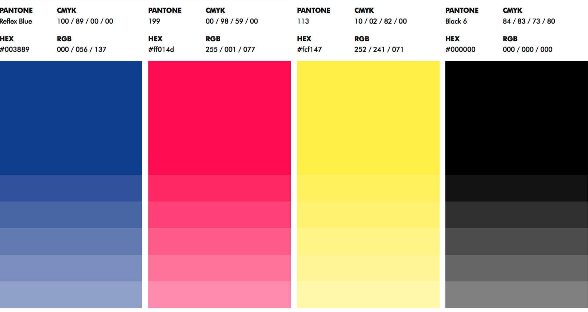 Colores corporativos de Bocademia