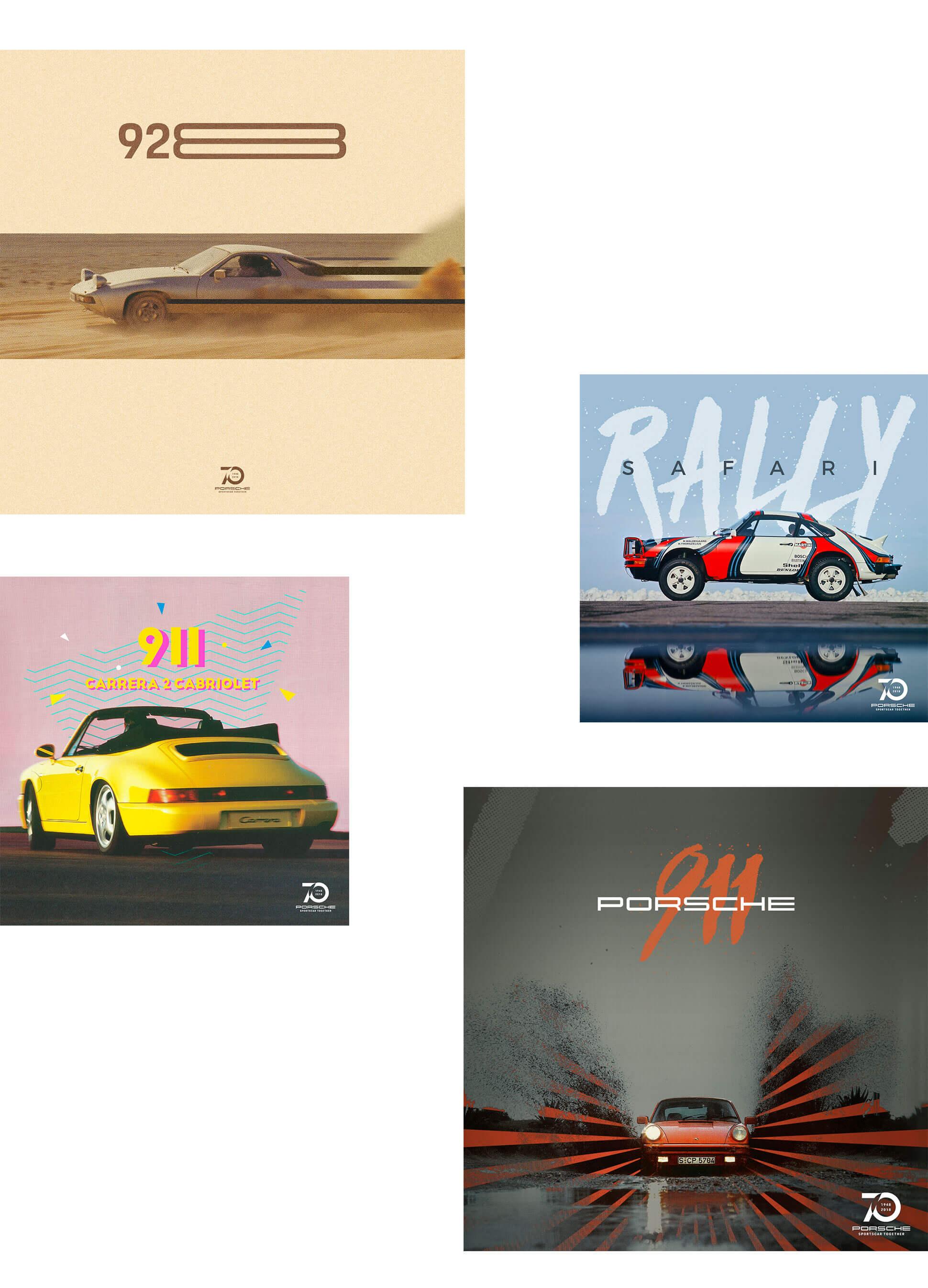 Creatividades 70 aniversario Porsche