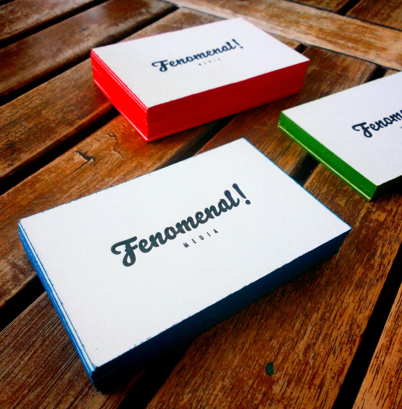 Fotografía de las tarjetas de Fenomenal