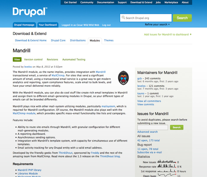 Mandrill: Send transactional emails from Drupal   wildwildweb es