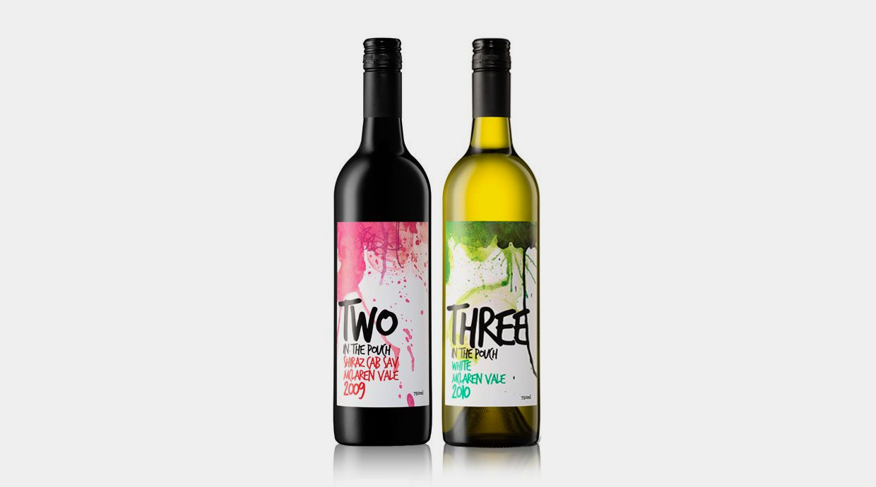 Botellas de vino Two y Three