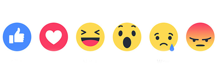 emoticonos de reacciones de facebook