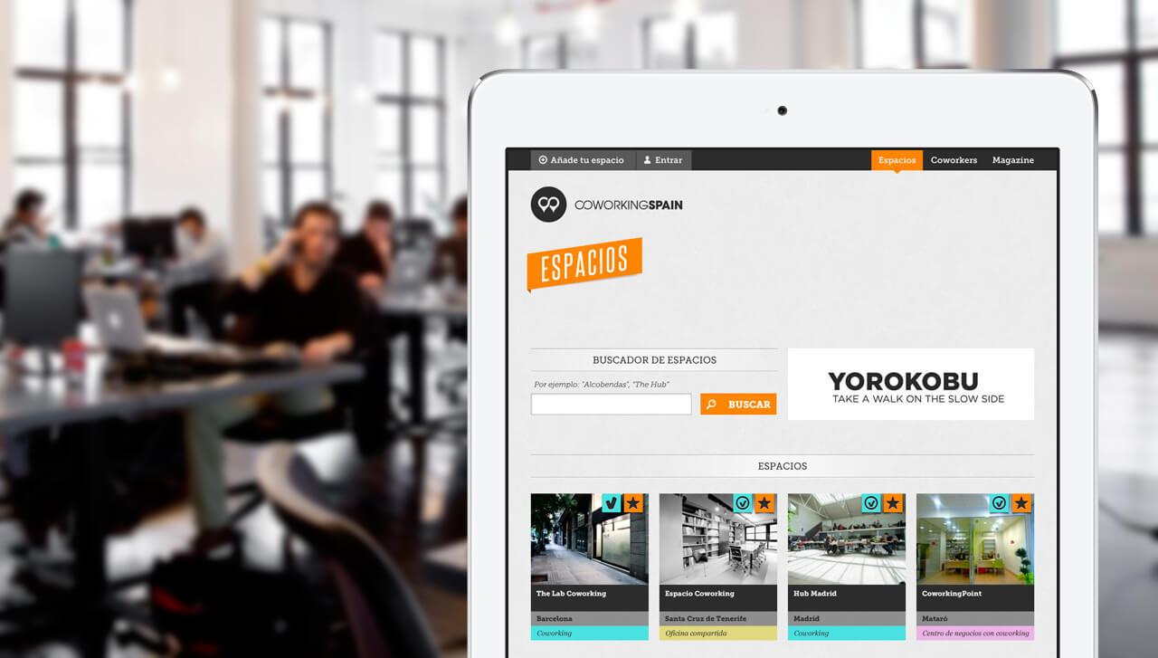 coworkingspain.es - vista en tablet