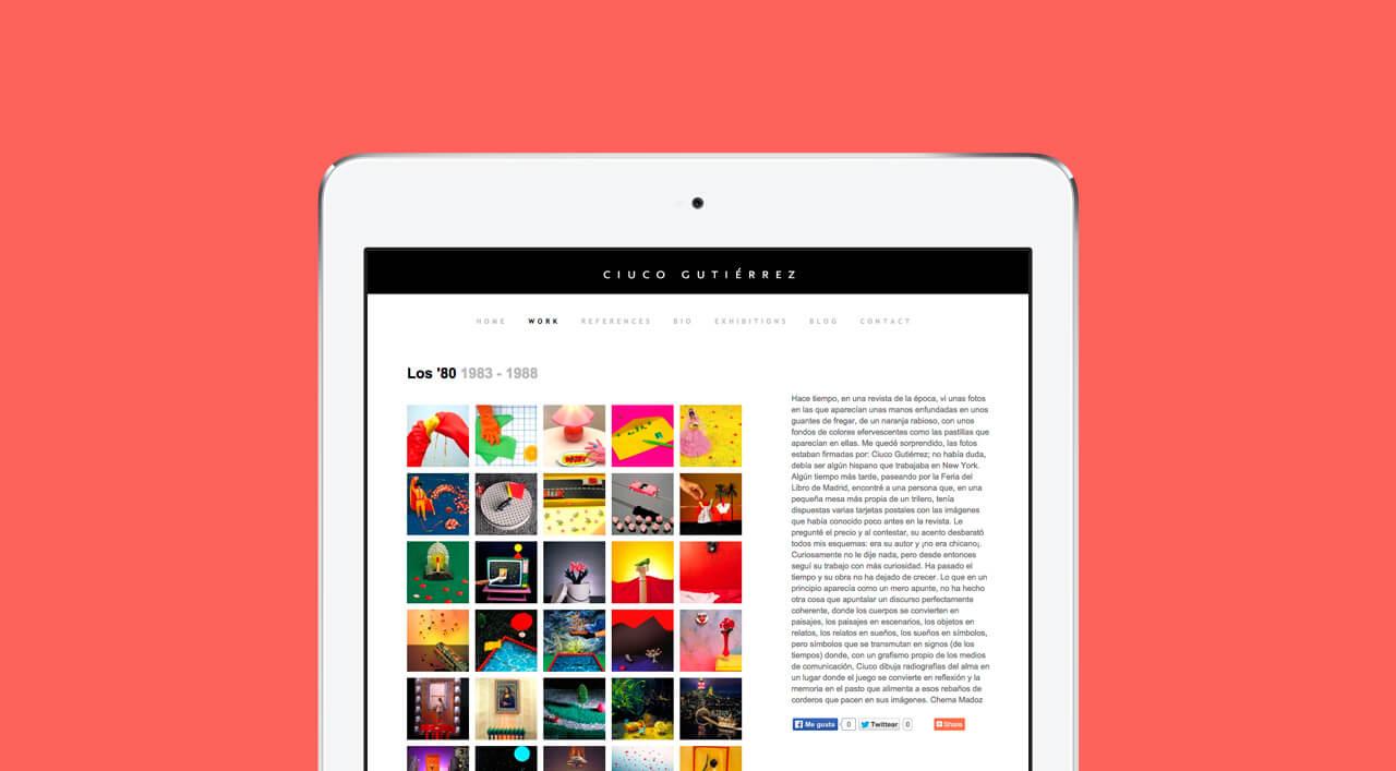Pantallazo en iPad de ciucogutierrez.es
