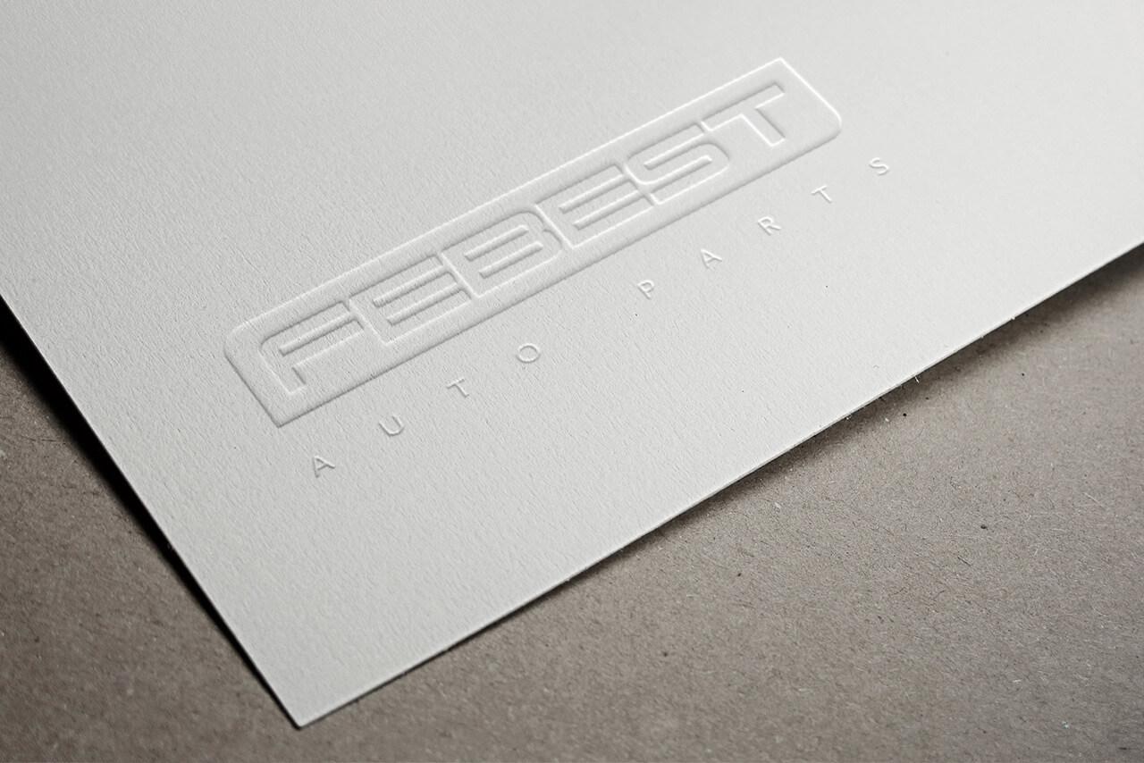 Logotipo de Febest en papel