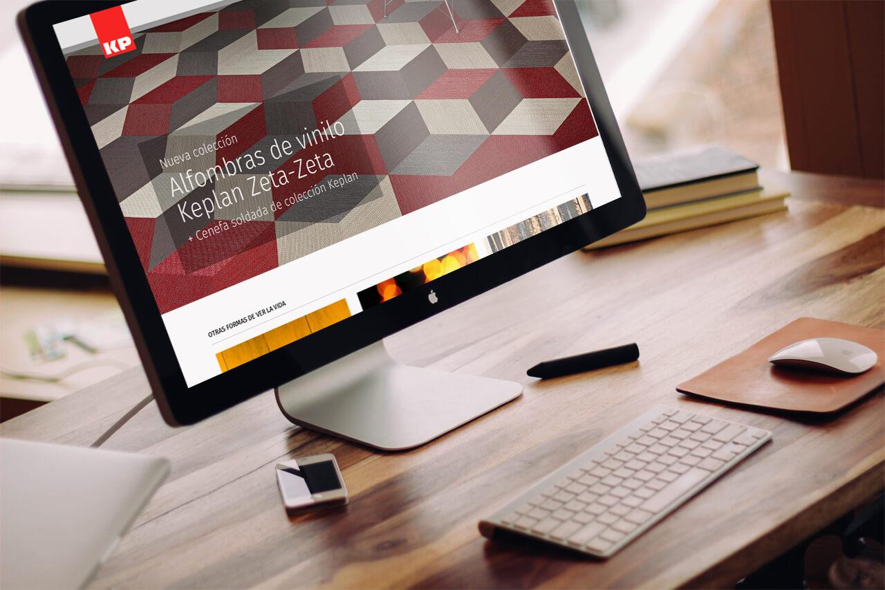 Pantallazo de la portada de alfombraskp.com