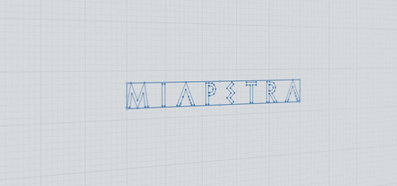 Logotipo de Miapetra en Illustrator