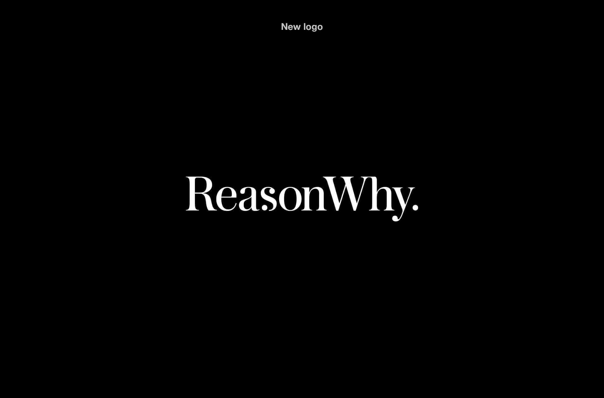 Logotipo de ReasonWhy sobre fondo negro
