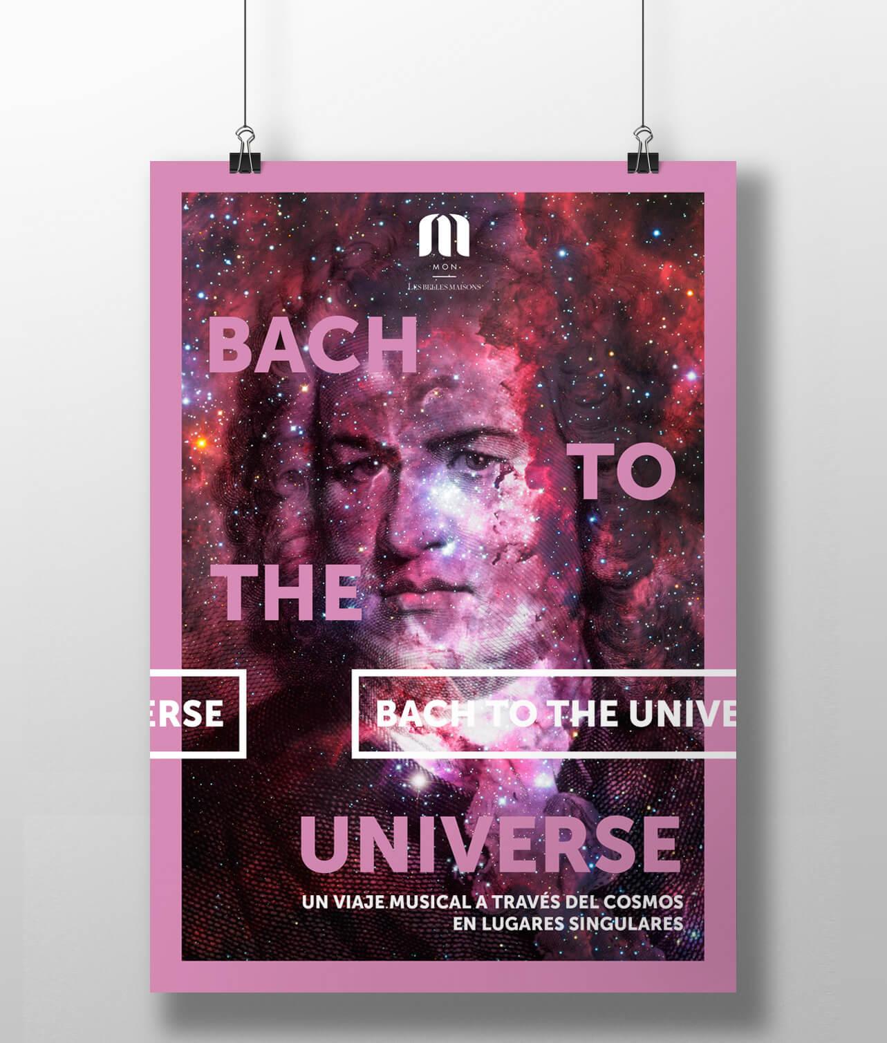 Fotografía de cartel de la campaña para Bach to the universe
