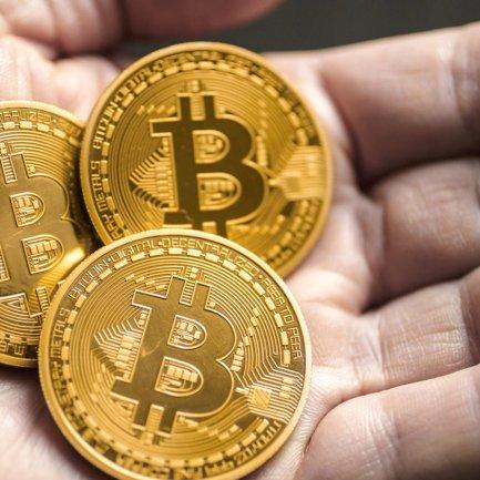 Moneda de metal Bitcoin