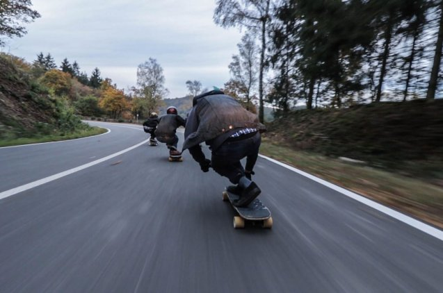 Skaters in the road