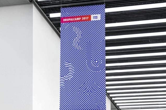 Banderola con la identidad de la Drupal Camp 2017