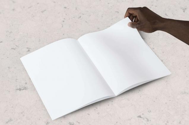 notebook cuaderno con hojas en blanco