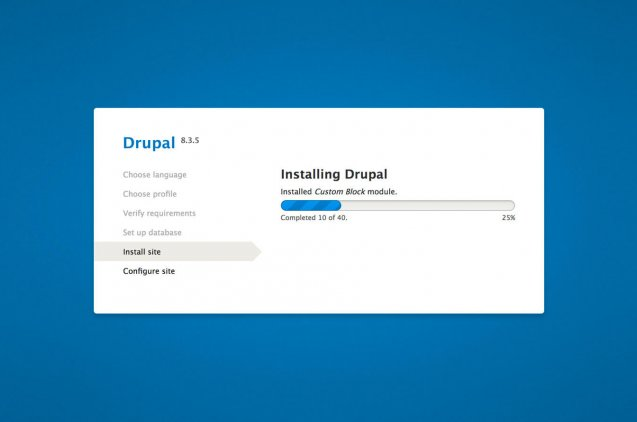 Cómo instalar drupal 8 en 5 minutos