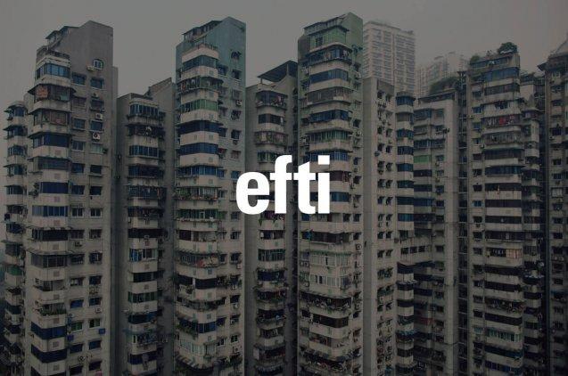 Logo de EFTI sobre una fotografía de Mikel Euba