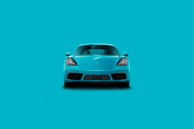 Creatividad de Porsche Turquesa