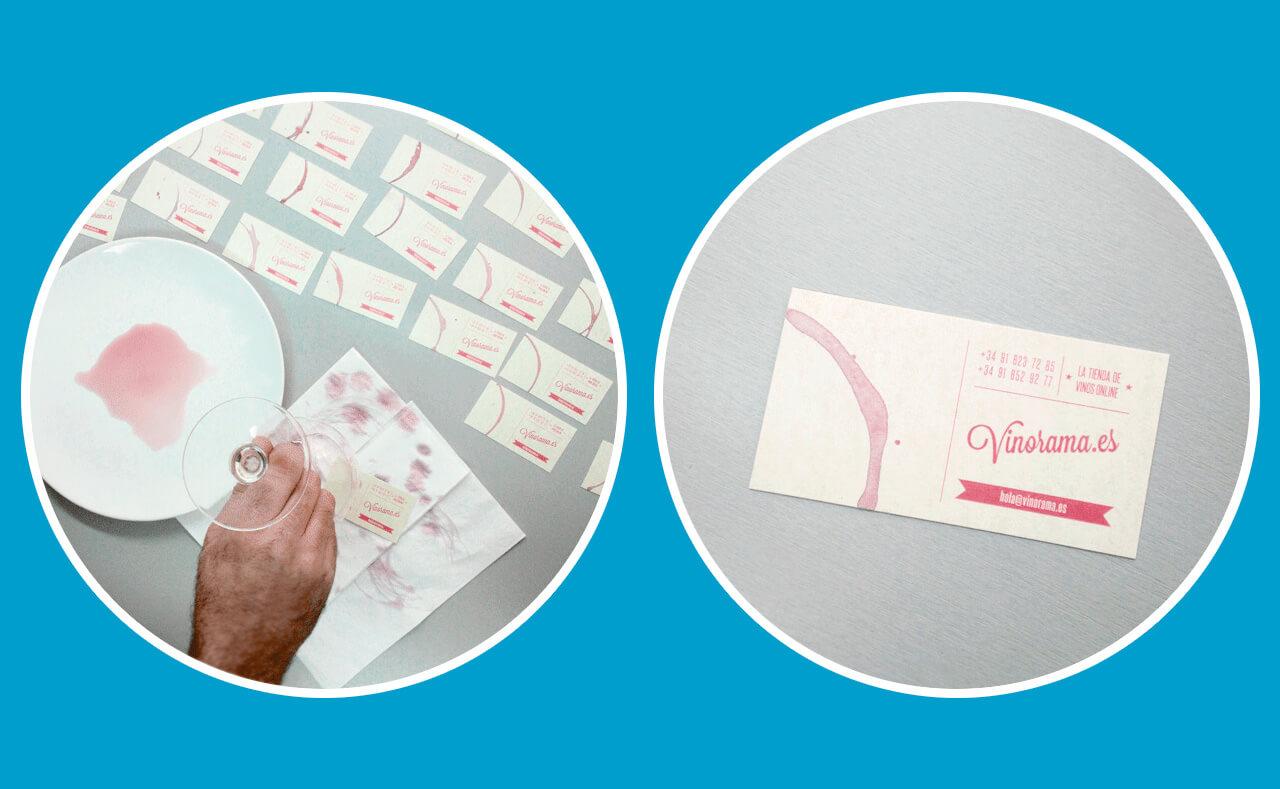 Fotografías de las tarjetas de visita de vinorama