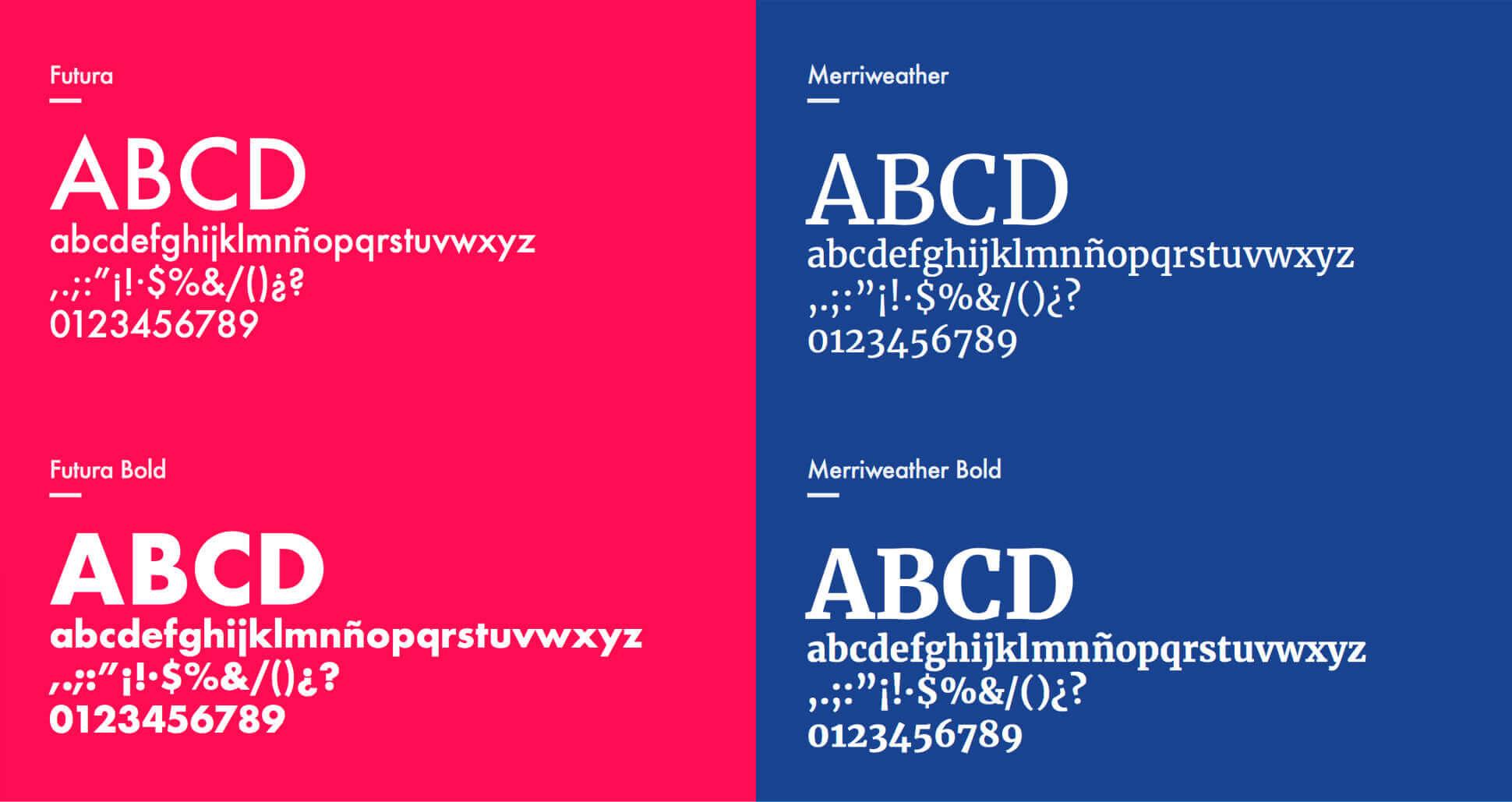 Tipografías corporativas de Bocademia