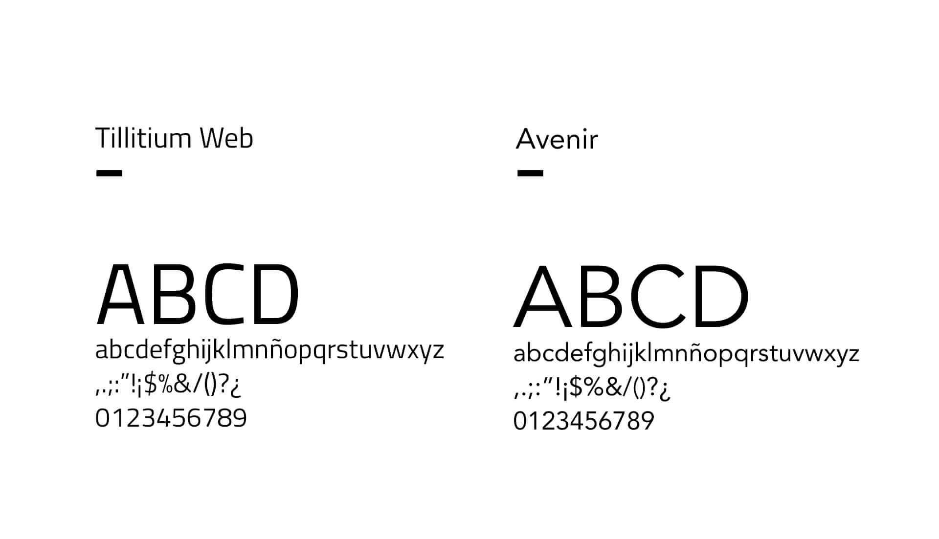 Tipografías corporativas de CENIE