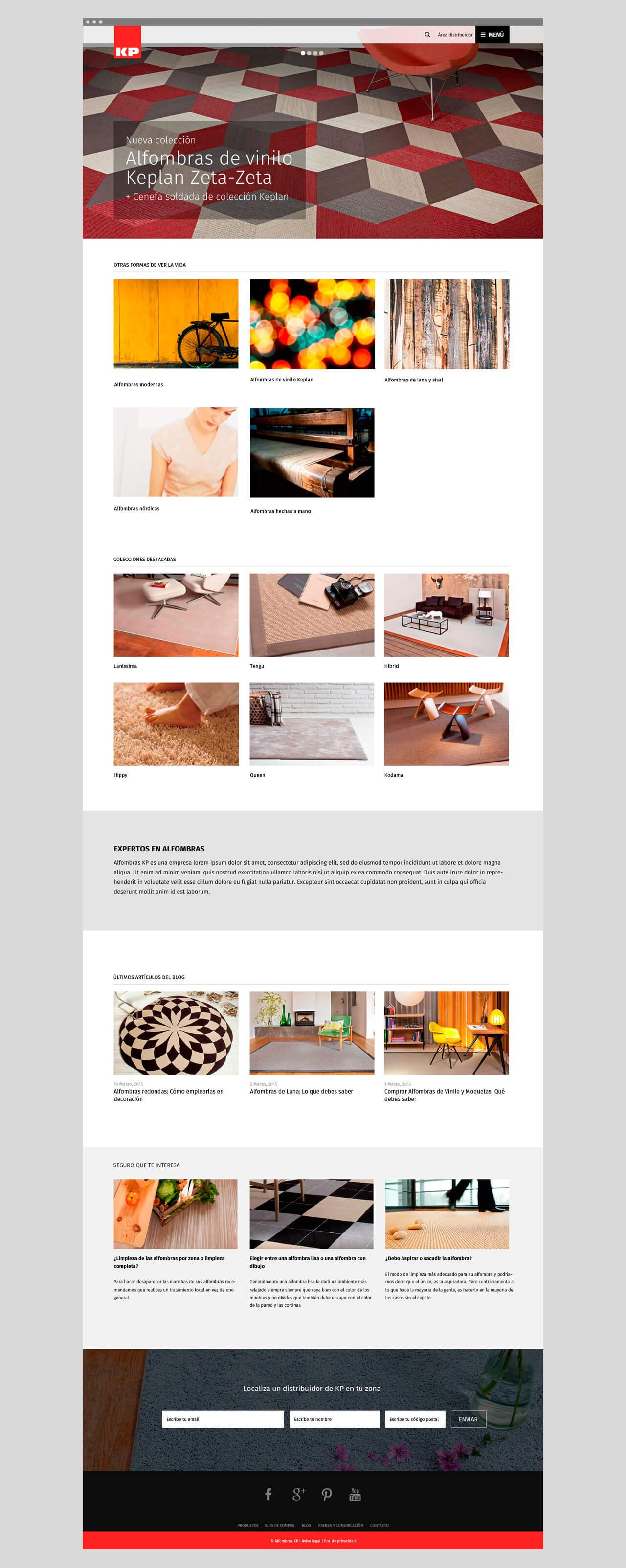alfombras kp alfombras y moquetas a medida pantallazo de la portada de