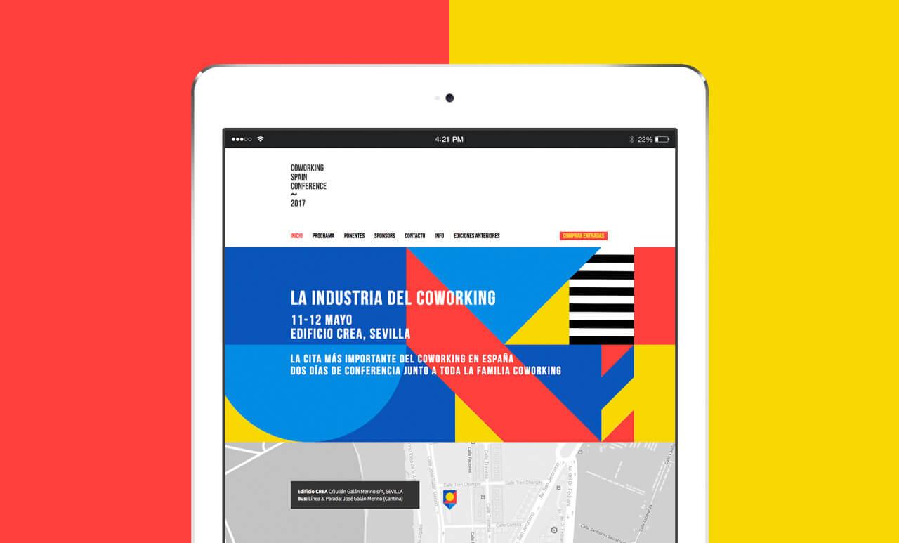 Mockup del sitio web de coworkingspainconference.es